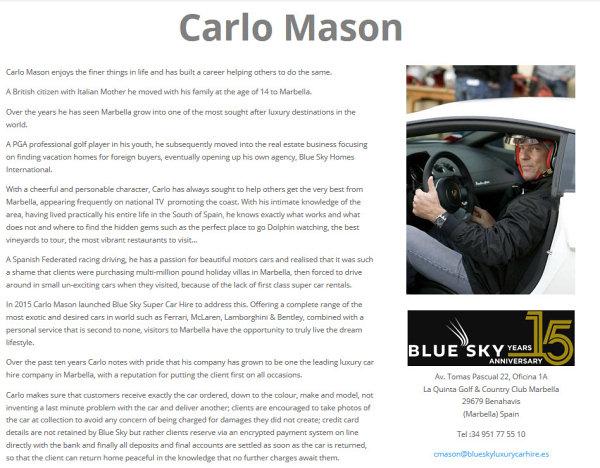 Carlo Mason Website